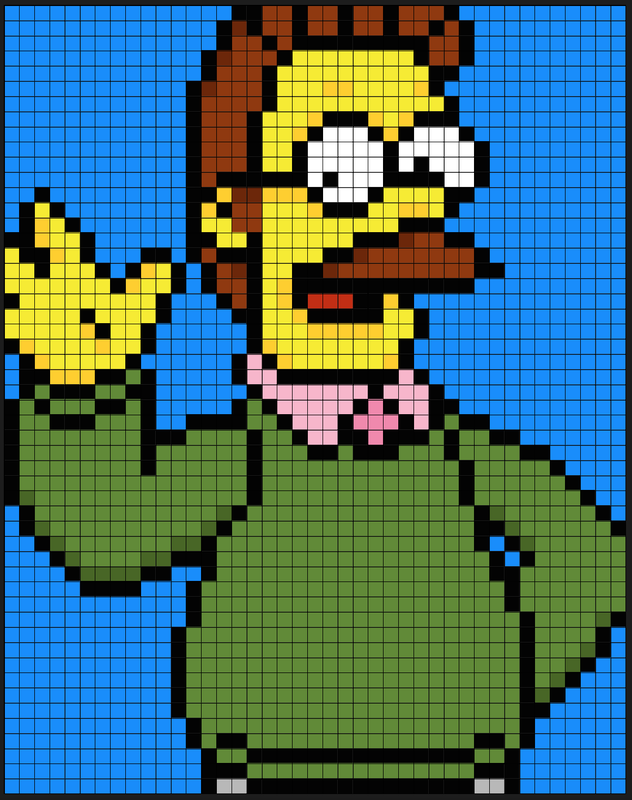 pixel art simpson